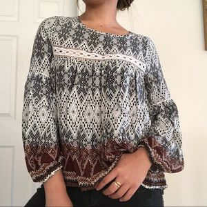 BOHO BLOUSE WITH BALLOON SLEEVES